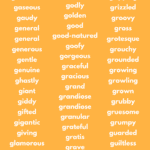 Adjectives That Start With G