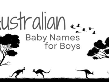 Australian baby names for boys on Australian background
