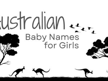 Australian baby names for girls on Australian background