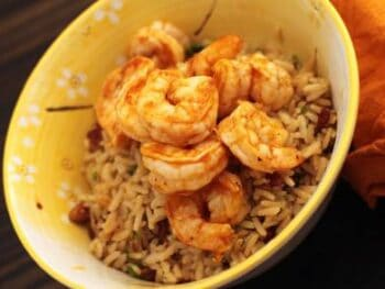 BBQ Shrimp with Pecan Rice