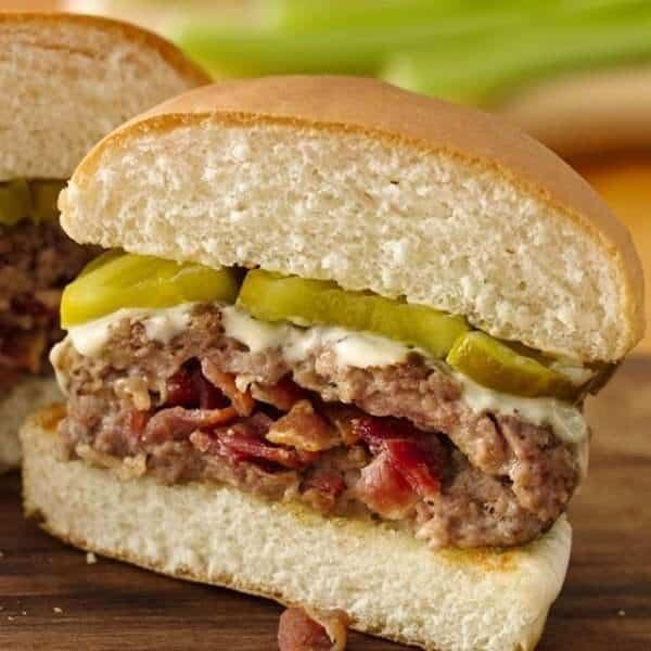 Bacon Stuffed Hamburgers