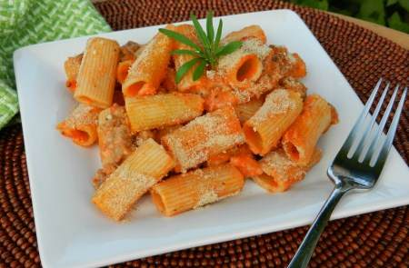 Baked Rigitoni and Sausage Recipe