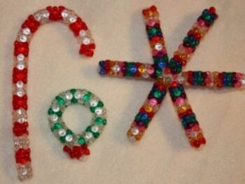Bead and Pipecleaner Ornaments