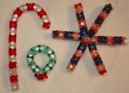 make beaded beads com ornaments article preschool seasons activities cane activity education ornament holidays candy