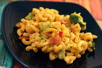 Broccoli Mac and Cheese with Bacon