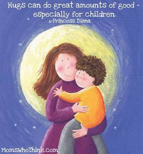 Princess Diana Children Need Hugs Quote Moms Who Think