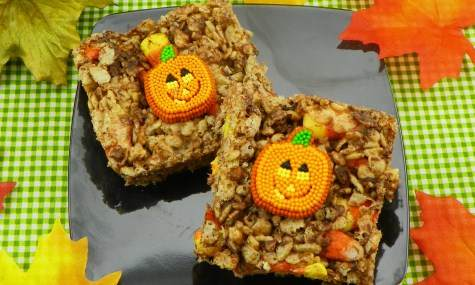 Candy Corn Rice Krispie Treats Recipe