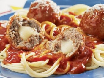 Cheesy Stuffed Meatlballs
