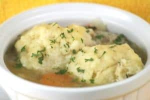 Chicken and Fluffy Dumplings - mmmm!