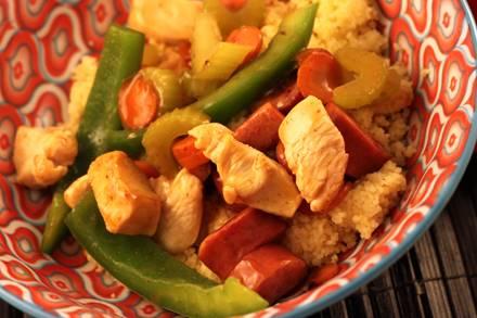 Chicken and Kielbasa Couscous