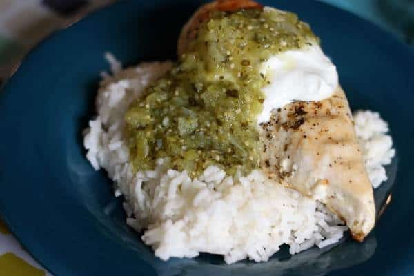 Healthy Grilled Chicken With Green Chile Sauce Recipe