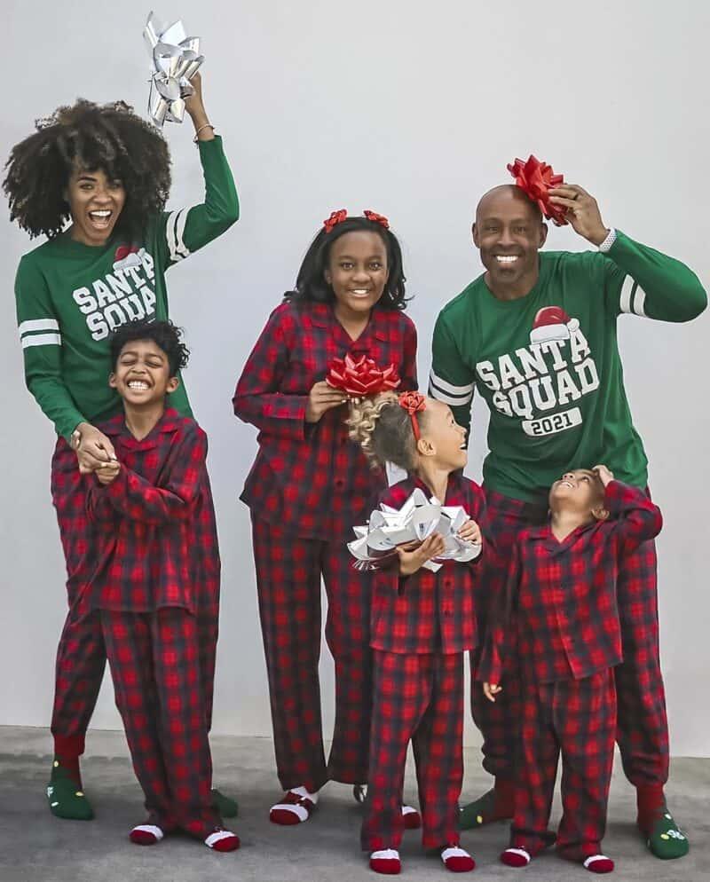 Santa Squad family Christmas jammies