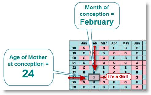 Chinese pregnancy calendar