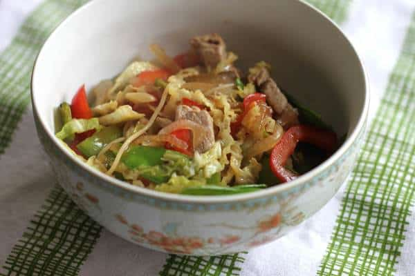 Chinese Pork with Snow Peas
