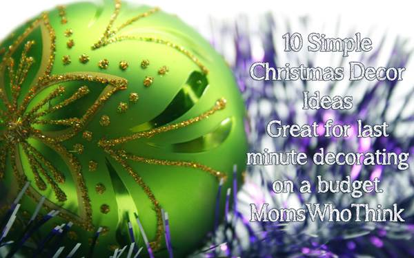 10 Simple Christmas Decor Ideas