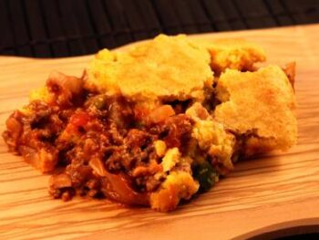 Cornbread Hamburger Pie
