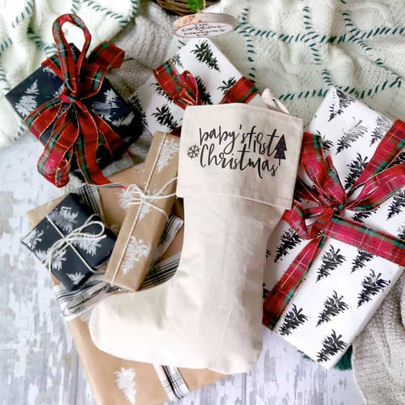 Baby's First Christmas Stocking from Cotton & Canvas