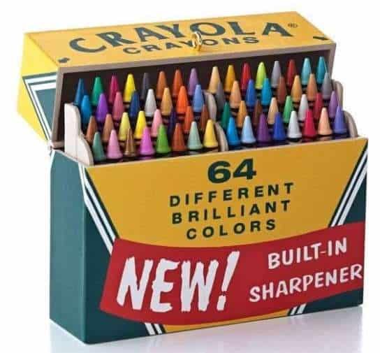 Crayola Box of 64 with the Built-In Sharpener