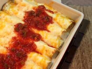 Creamy Halibut Enchiladas