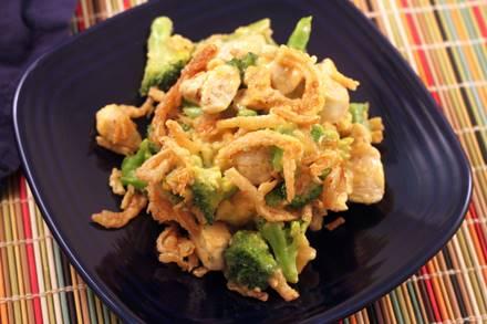Crunchy Chicken Cheddar Broccoli Bake