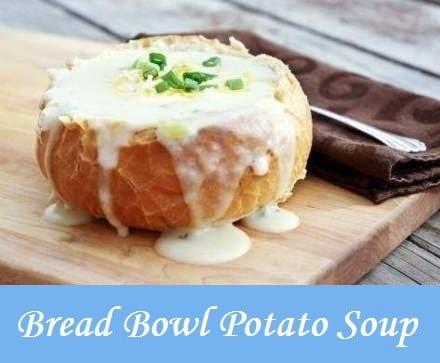 Bread Bowl Potato Soup