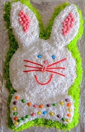 Easter Bunny Cake Recipe And Directions