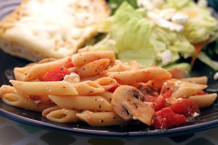 Fast Fresh Penne with Feta