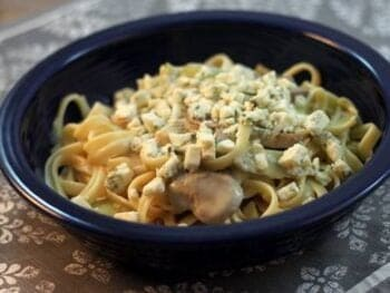Blue Cheese Artichoke Fettuccine