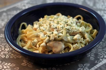 Blue Cheese Artichoke Fettuccine