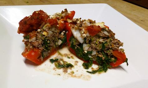 Greek-Style Stuffed Peppers - Moms Who Think