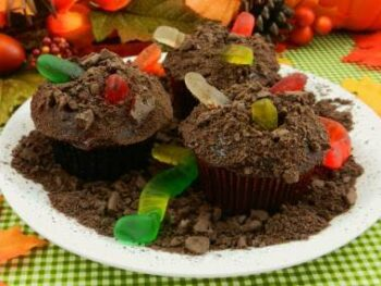 Halloween Wormy Cupcake Recipe