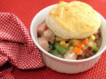 Ham and Chicken Biscuit Pie