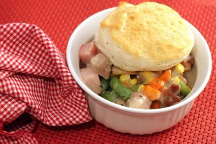 Ham and Chicken Biscuit Pie