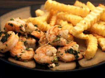 Herbed Crusted Shrimp and Oven Fries
