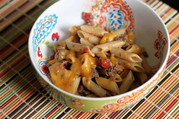 Kids Favorite Cheeseburger Pasta