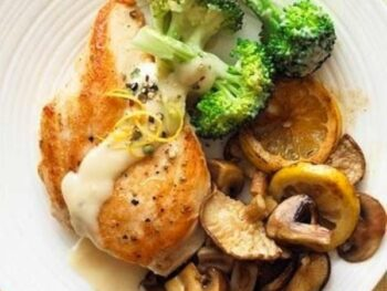 Chicken and Creamy Lemon Broccoli