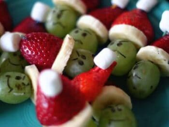 Mini Grinch Kabobs