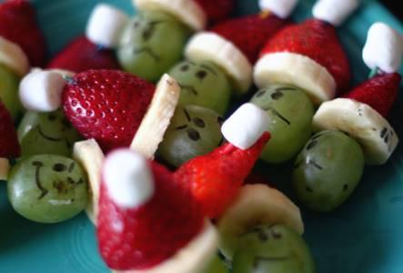 Mini Grinch Kabobs