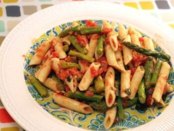 Penne with Asparagus and Parmesan