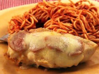 Pepperoni Chicken and Spaghetti