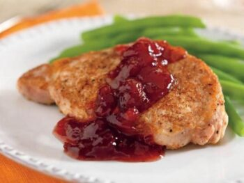 Pork with Spicy Orange Cranberry Sauce
