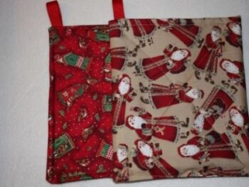 Potholders from scrap fabric