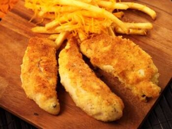 Ranch Chicken Tenders with Cheese Fries
