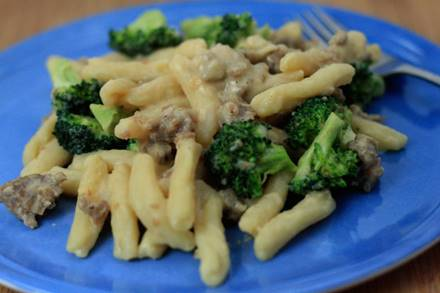 Sausage Cavatelli with Broccoli