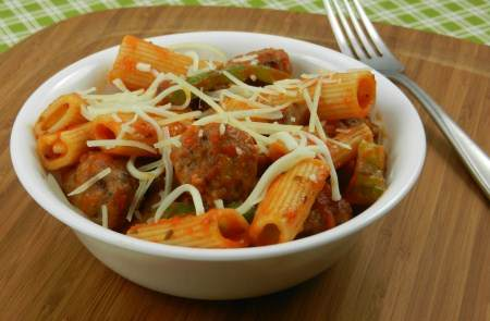 Sausage and Peppers Rigatoni