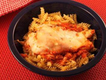Skillet Chicken Parm with Pasta Twists
