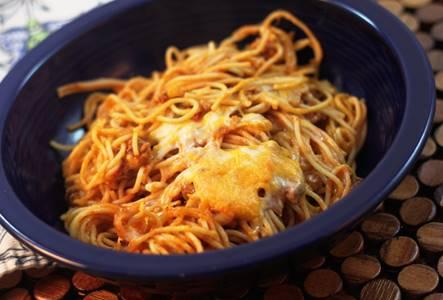 Spaghetti Cheese Casserole