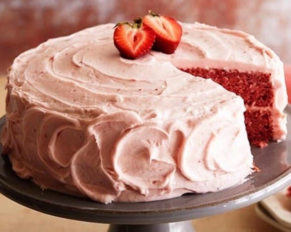 Chocolate Strawberry Jello Cake Recipe: Strawberry Cake Recipe