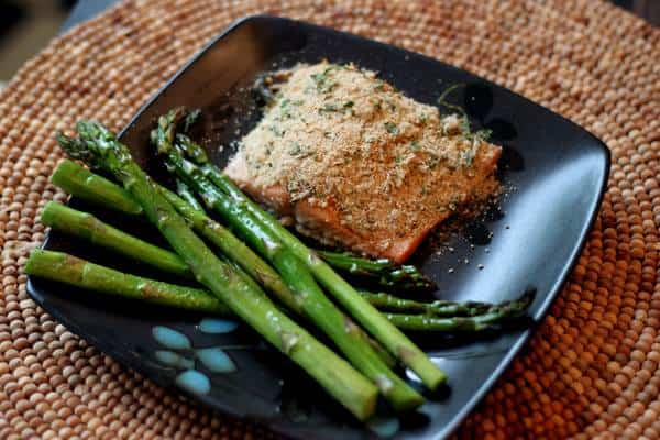 Succulent Herb Crusted Salmon