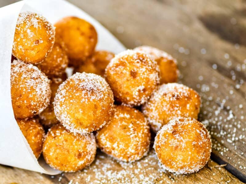 Sweet Potato Balls rolled in sugar
